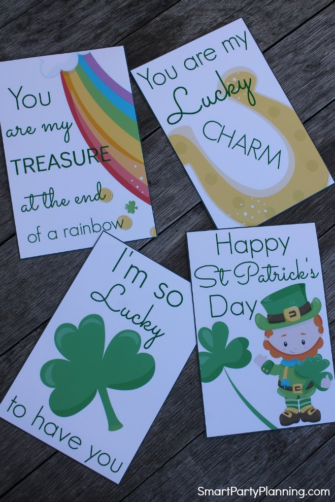 St Patrick's Day Printable Lunch Box Notes