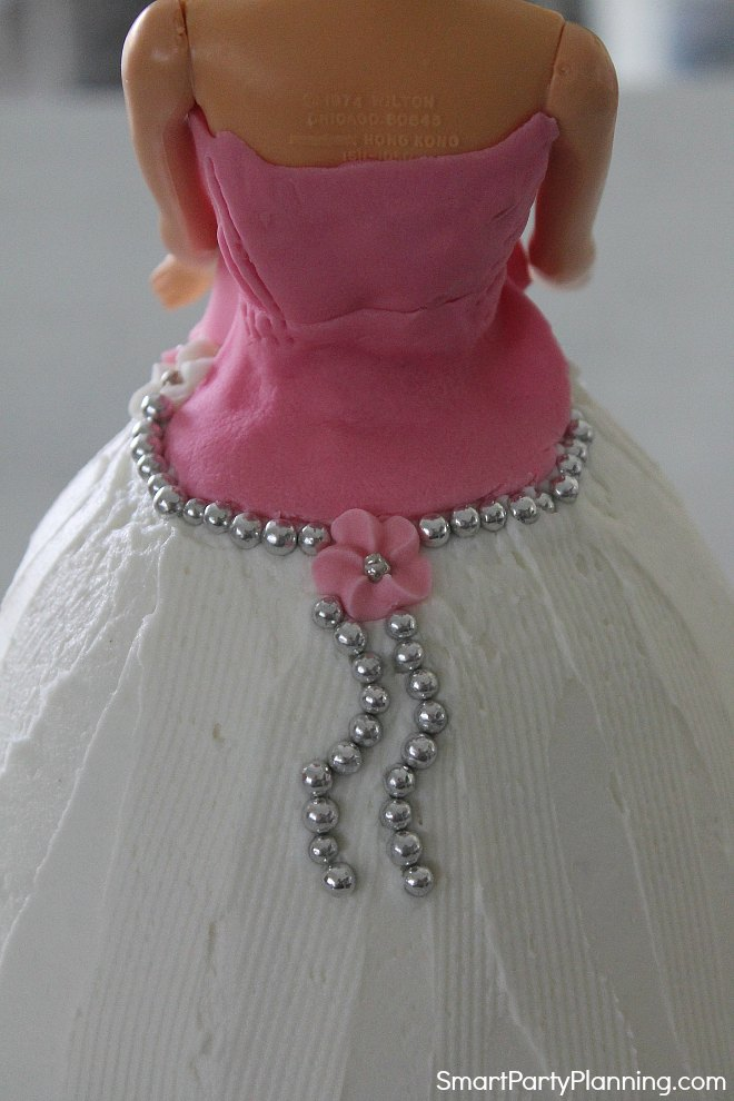 Back of dress detail