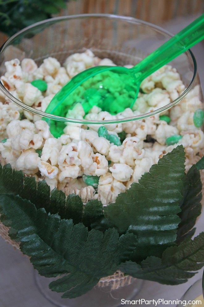 Bowl of chocolate popcorn