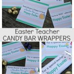 Easter teacher candy bar wrappers