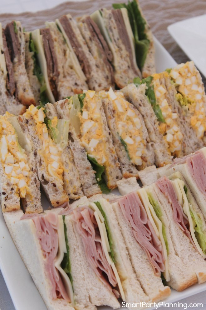 Plate of sandwiches