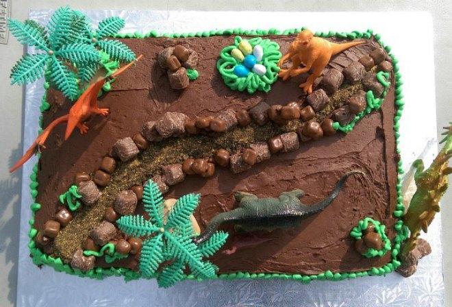 World chocolate dinosaur Cake