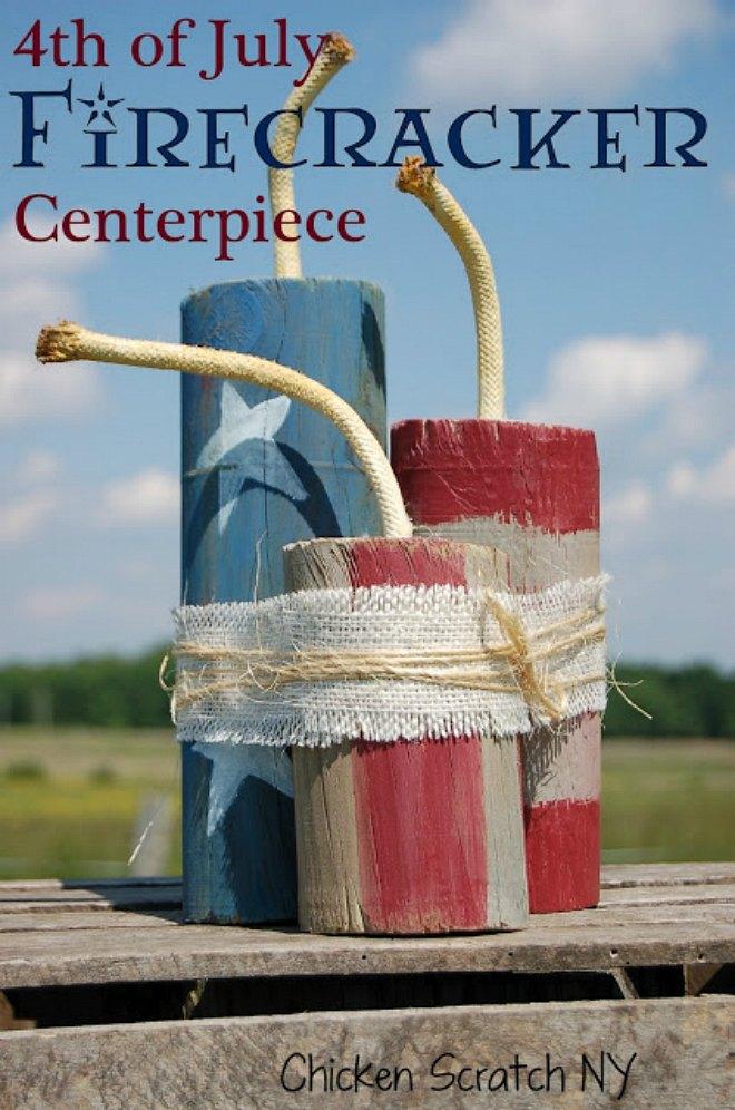 4th July Firecracker Centerpiece