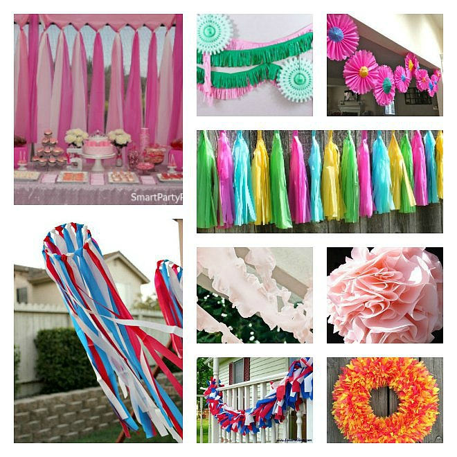 collection of Plastic Tablecloth Decorations