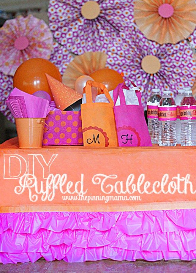 DIY Ruffled tablecloth