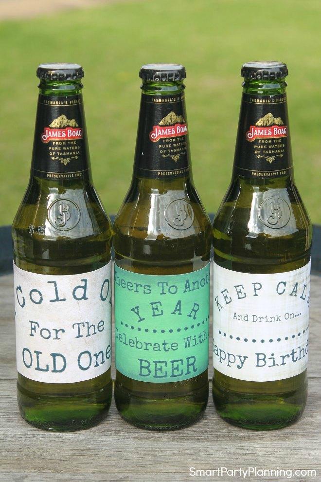 Birthday Beer Labels