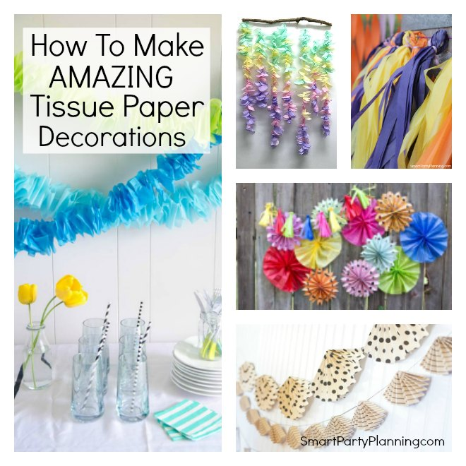How to make amazing tissue paper decorations for Cool paper decorations