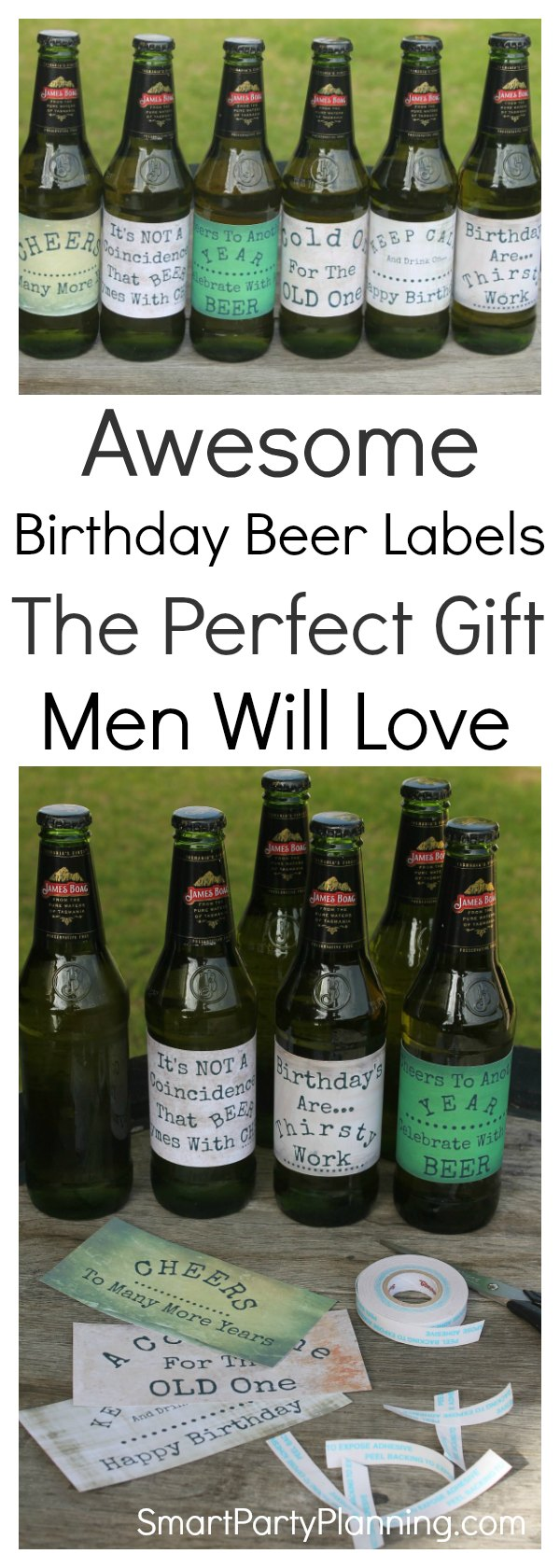 Awesome Birthday Beer Label design