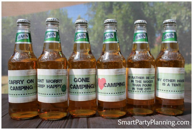 Camping Themed Beer Labels