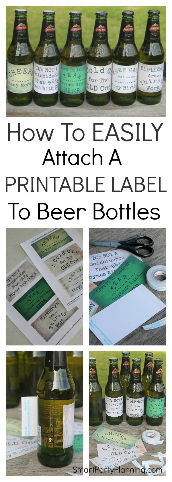How To Easily Attach A Printable Label To Beer Bottles