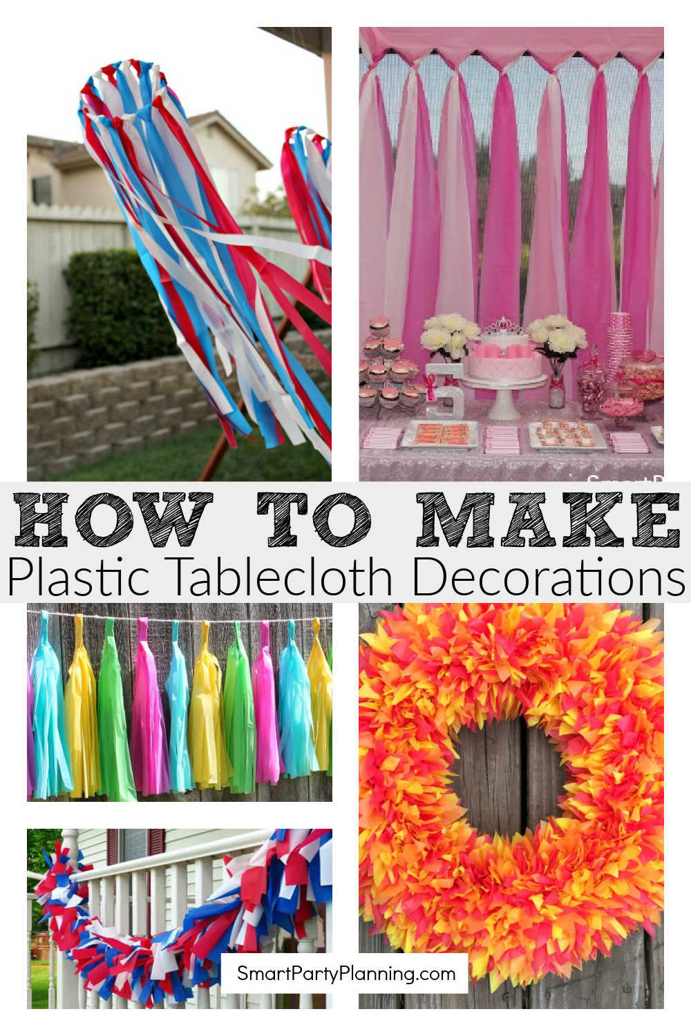 How to make plastic tablecloth decorations