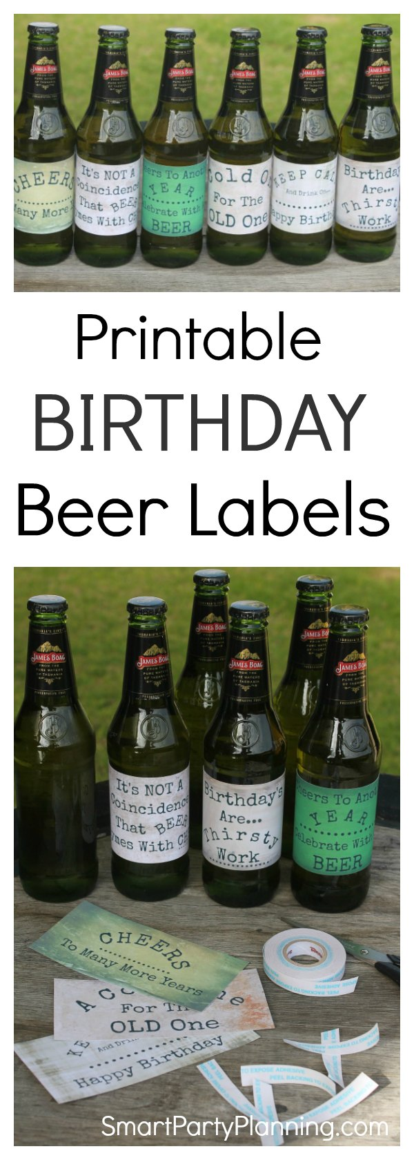 Grab an awesome set of 6 printable birthday beer labels that guys will absolutely love. Whether it's for dad's birthday, your husband, partner or brother, these beer labels are going to be a present that he will want to receive. Fun DIY gifts always make the best gifts, and this one is super easy to make. They would even be great for use at parties too.