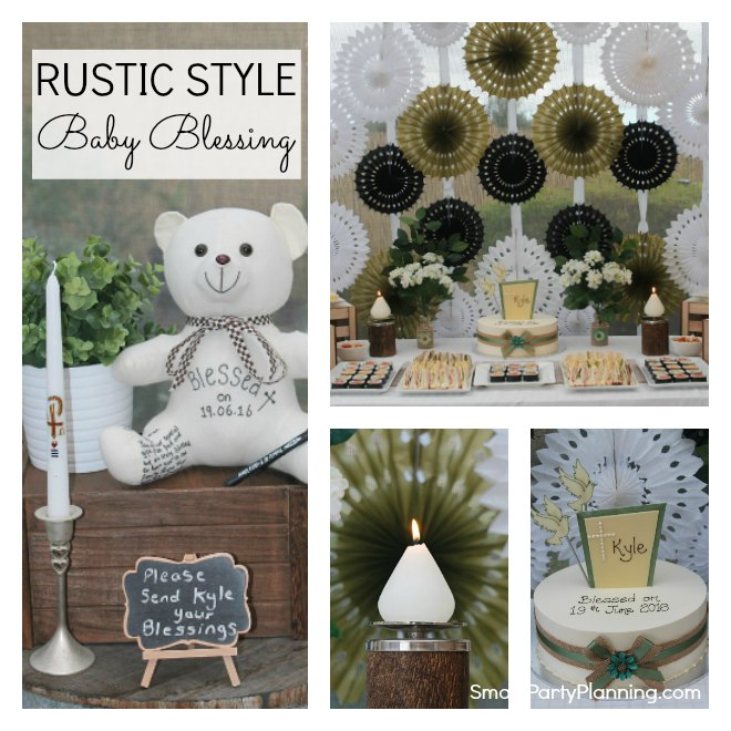 Rustic Style Baby Blessing