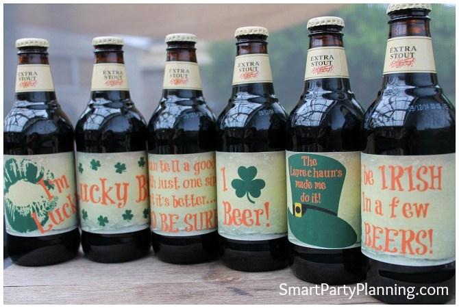 St Patricks Day Beer Labels