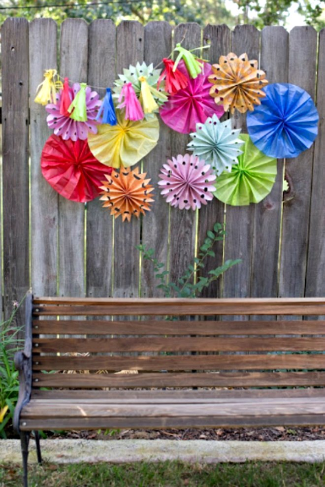 Tissue Paper Flower Fans
