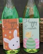 Easter Wine Bottle Labels