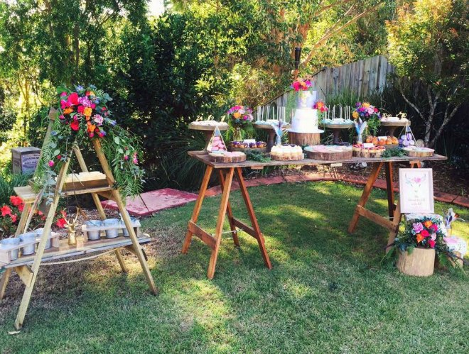 Boho party tables