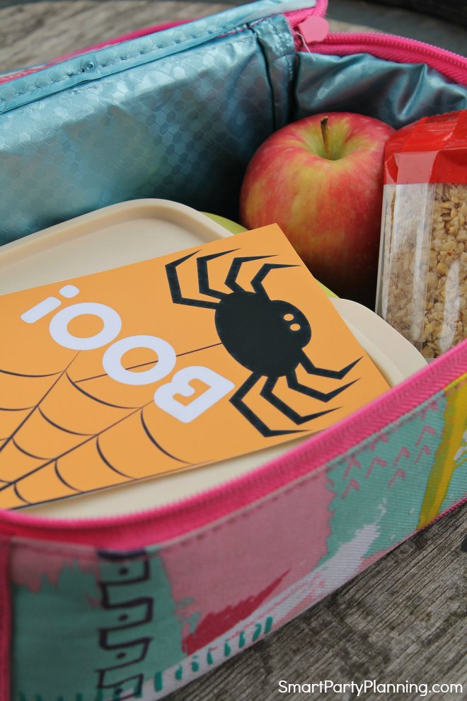 Boo Halloween Lunch Box Note