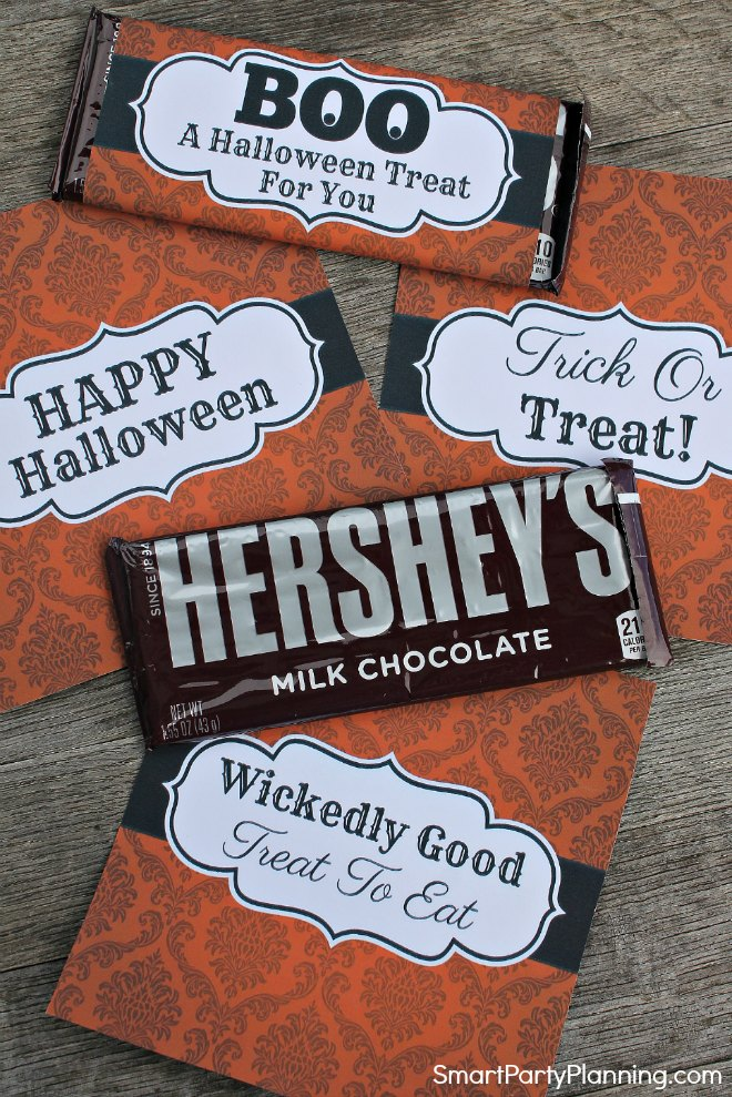 Halloween Hershey Bar Wrappers