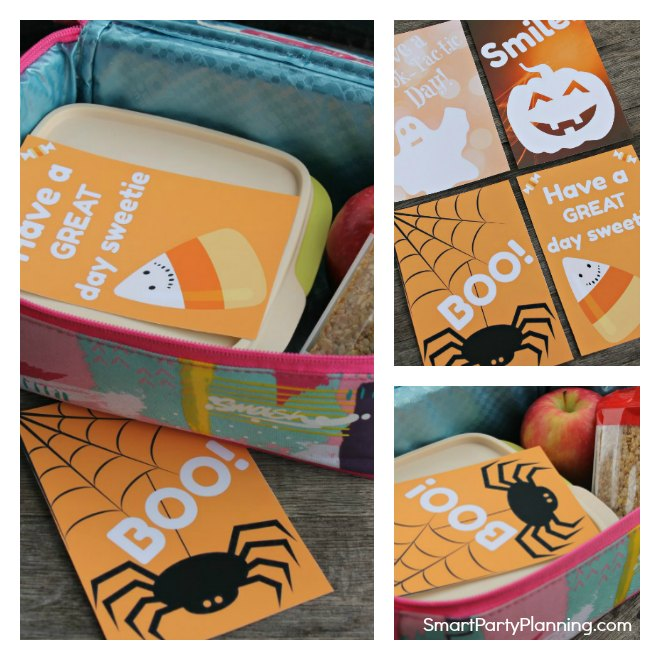 Printable Halloween Lunch Box Notes