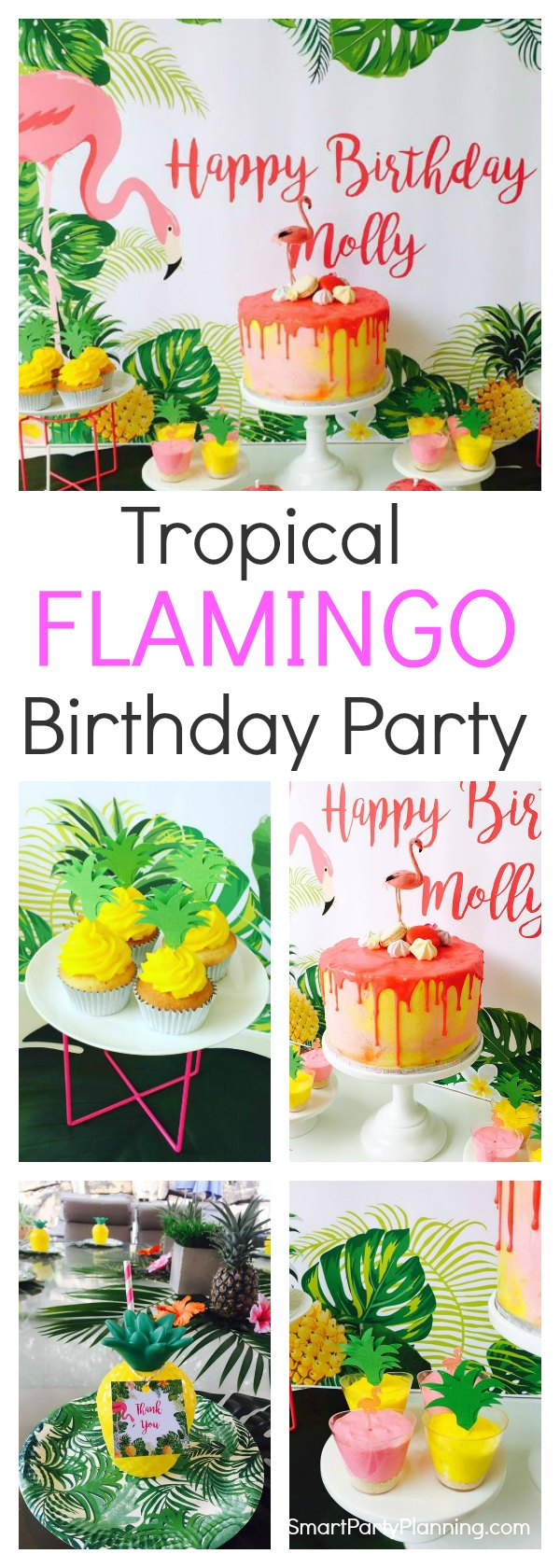A gorgeous flamingo birthday partythat will provide you with plenty of ideas to hold your own. This is one that the kids will love. Showcasing a stunning cake, delicious food and eye popping decorations. This is a party theme that will really stand out from the crowd.