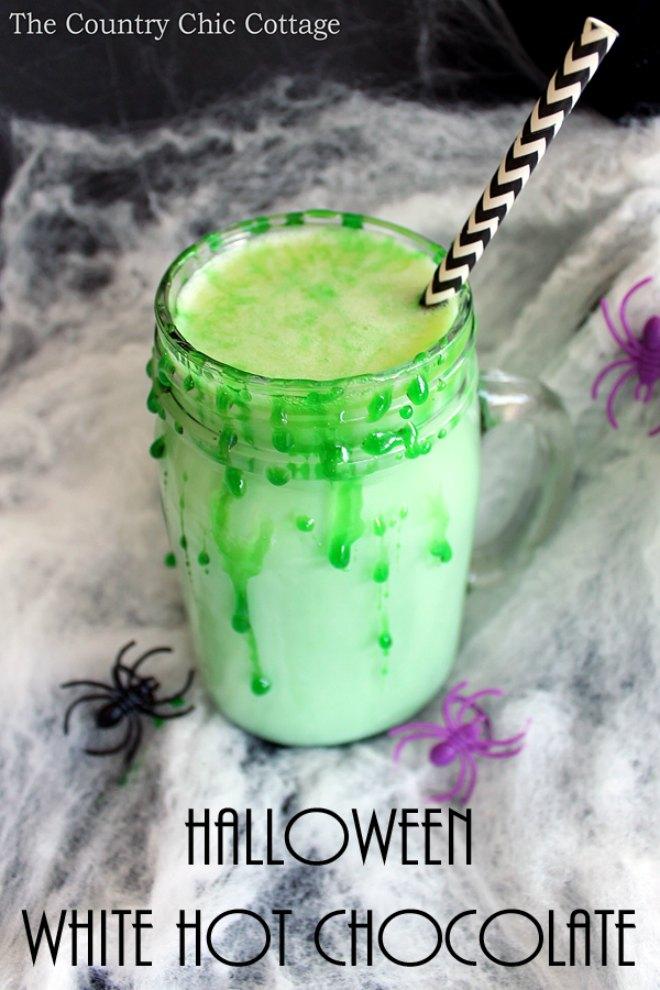 Halloween white hot chocolate
