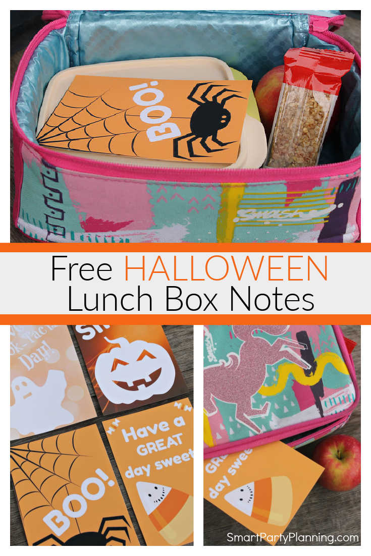Printable Halloween Lunch Box Notes For Kids