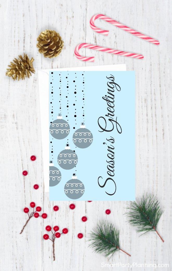 Christmas card style 3
