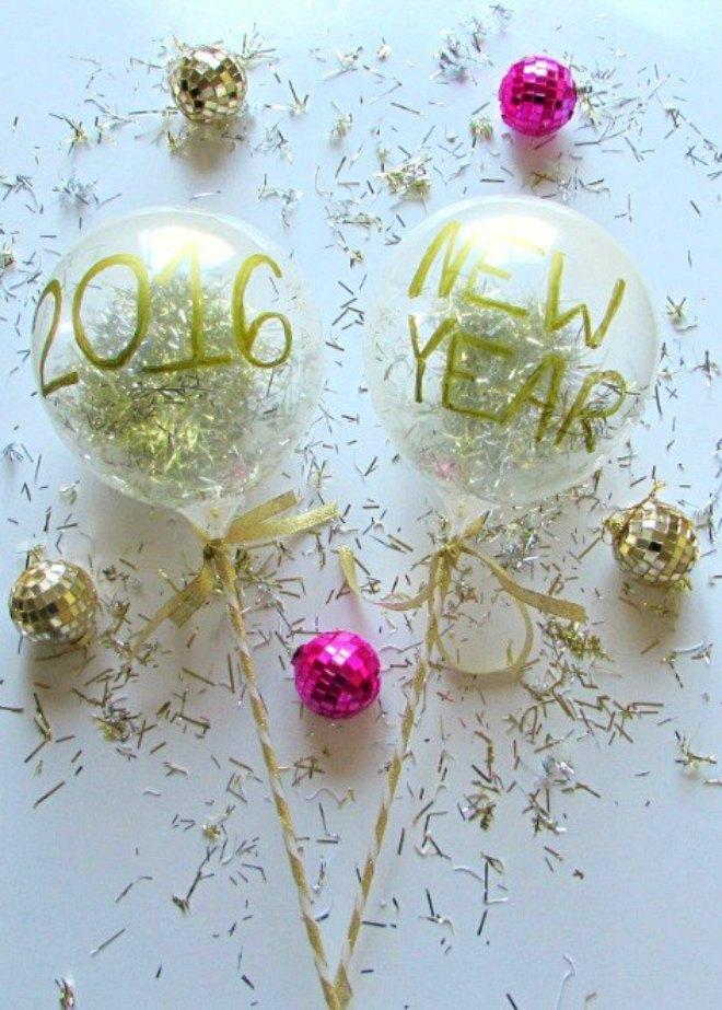 Confetti filled balloon wands