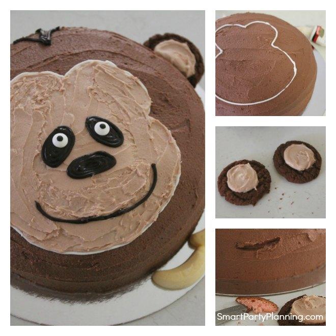 how to make a monkey birthday cake