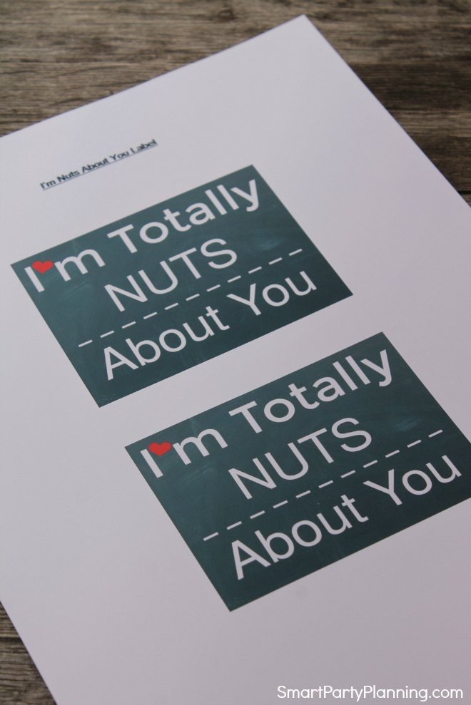 2 copies of the totally nuts about you printable