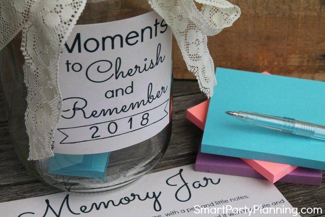 Fill the memory jar