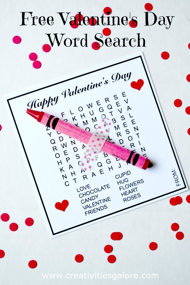 Free Valentines Day Word Search