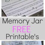 Memory Jar Free Printables