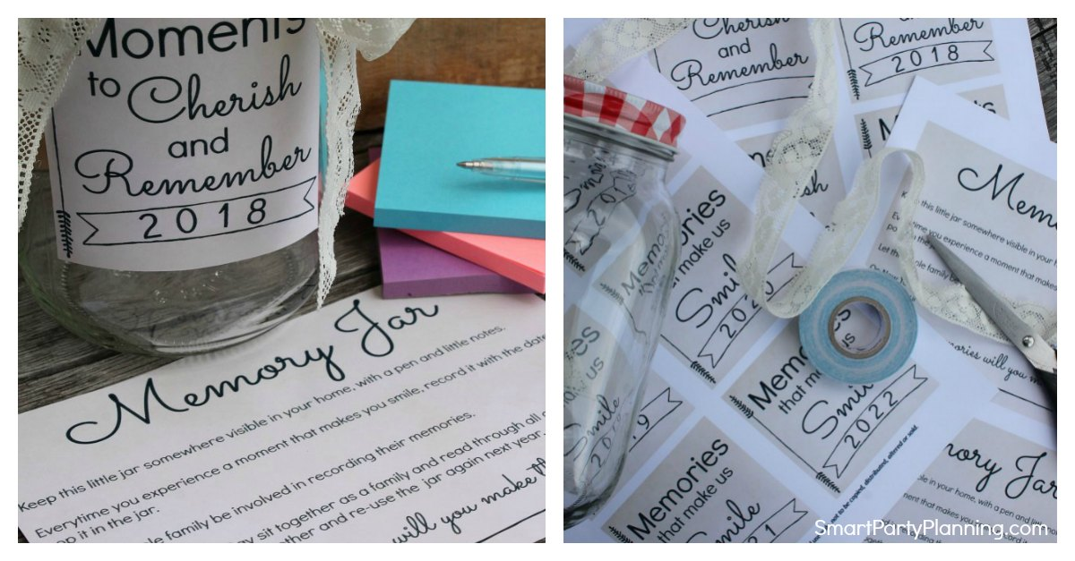 How To Make A Memory Jar With Free Printable