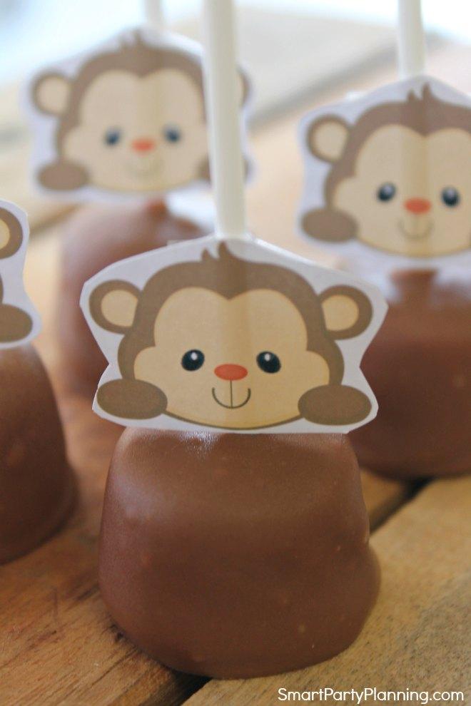 Monkey marshmallow head