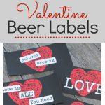 Printable Valentine Beer Labels