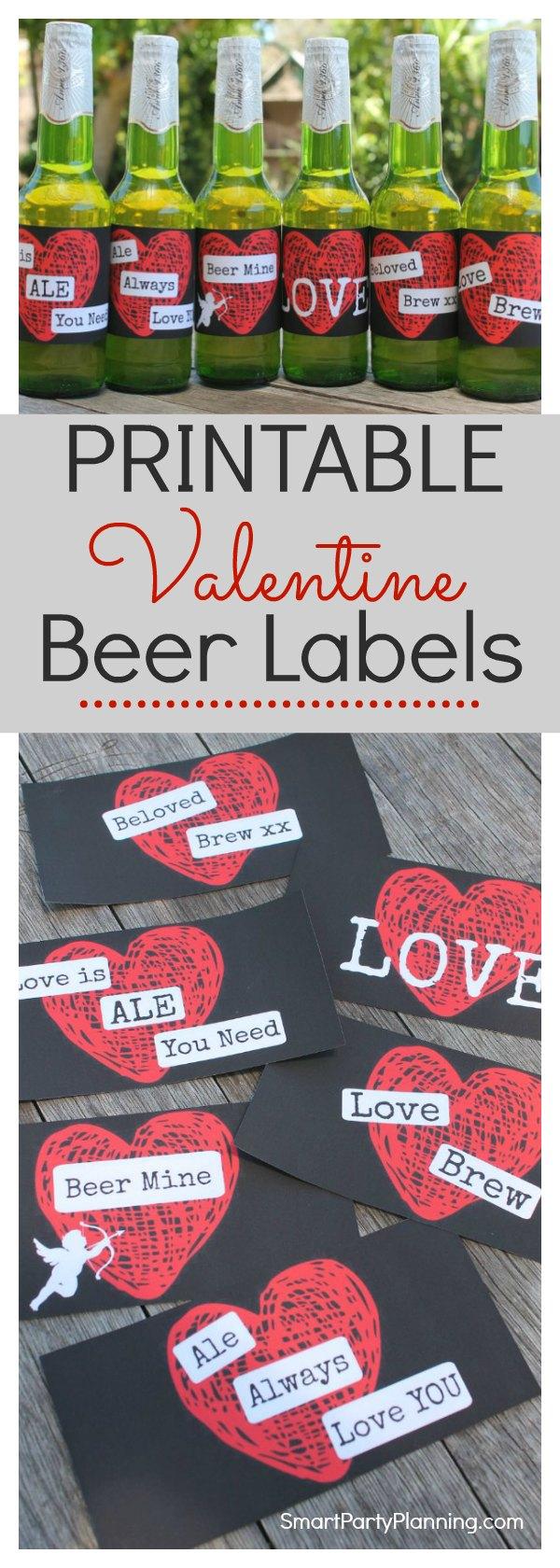 Printable Valentines Day Beer Labels