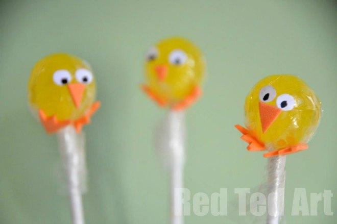 Easter Treat Chick Lollipops