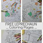Free Fun Leprechaun Coloring Pages