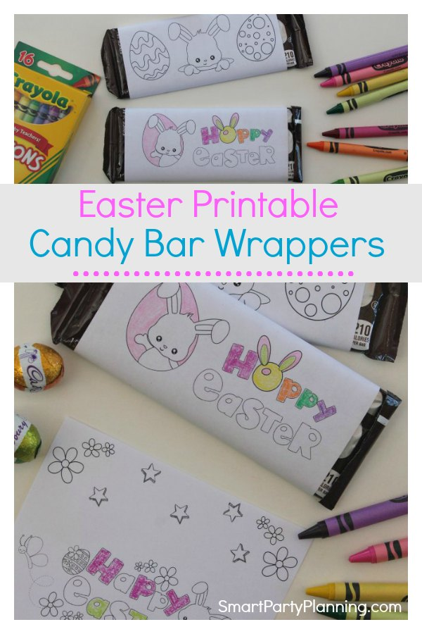 Fun Easter printable candy bar wrappers