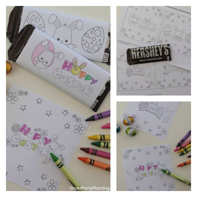 Printable candy bar wrappers that you color