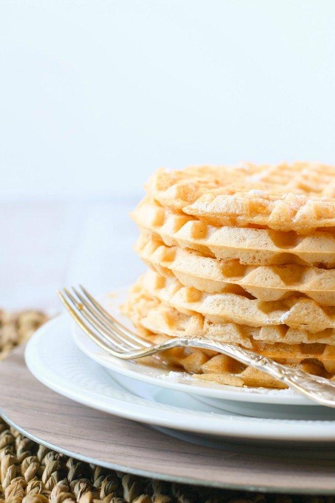 Gluten free dairy waffles