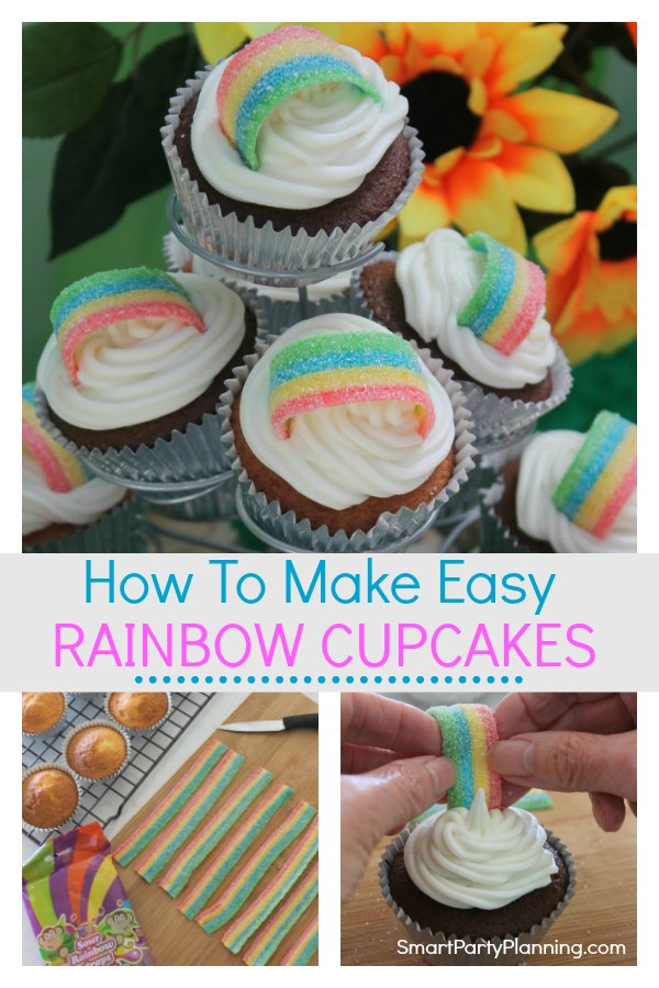 How to make easy rainbow cupcakes