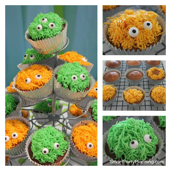 How to make monster cupcakes with eyes