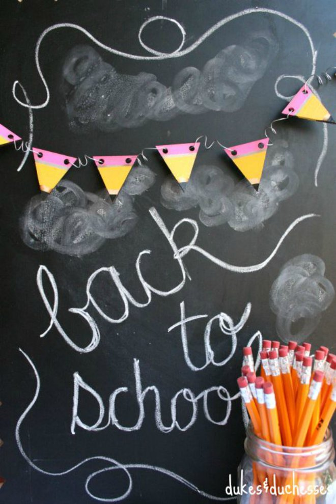 Painted pencil banner