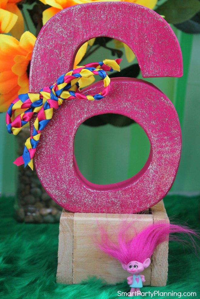 Number 6 decoration