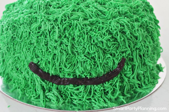 Mouth on the monster cake