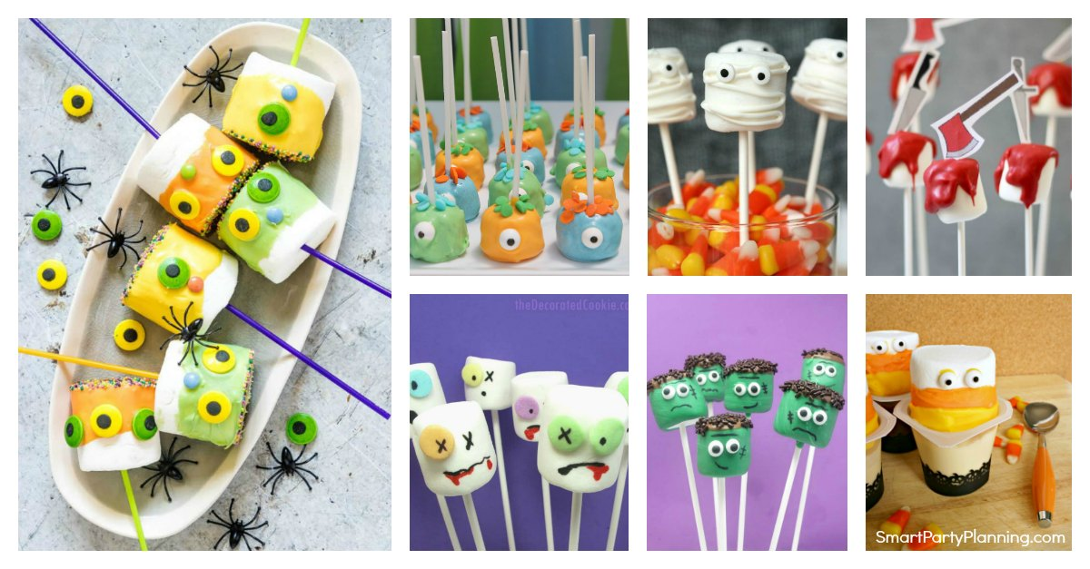 Awesome Halloween Marshmallow Pops