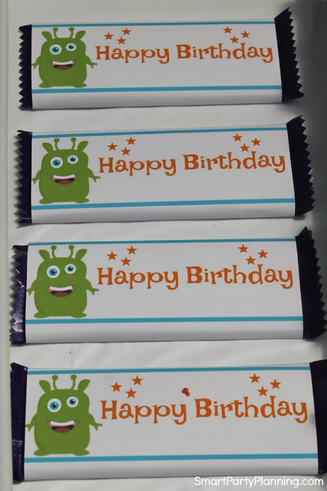 Monster Candy Bar Wrappers